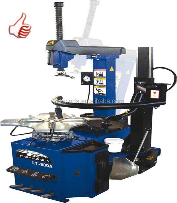 LT-980A tyre tools machine one arm remove angle of mount adjusted and calibrated air reserve tank tire changer