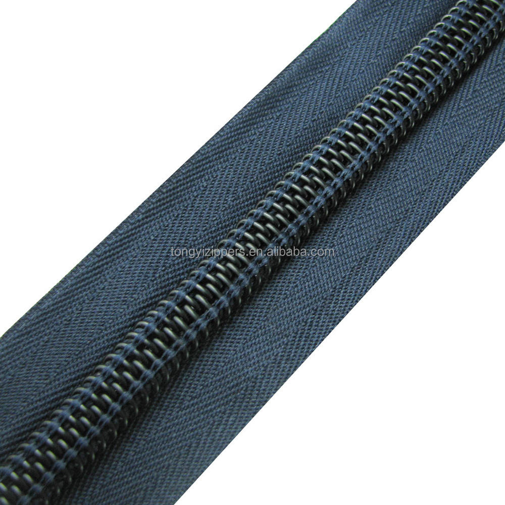 great tenacity 10# black long chain bag nylon zipper