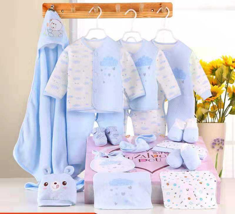 Infant baby Toddlers clothes sets baby 100% Cotton autumn 18pcs Newborn Baby Gift Set