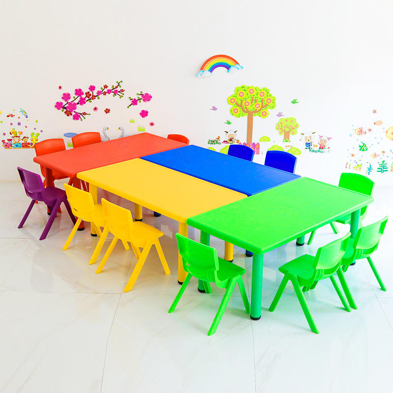 Cheap kindergarten kids classroom furniture supplier Malaysia for children plastic adjustable table and chair for sale
