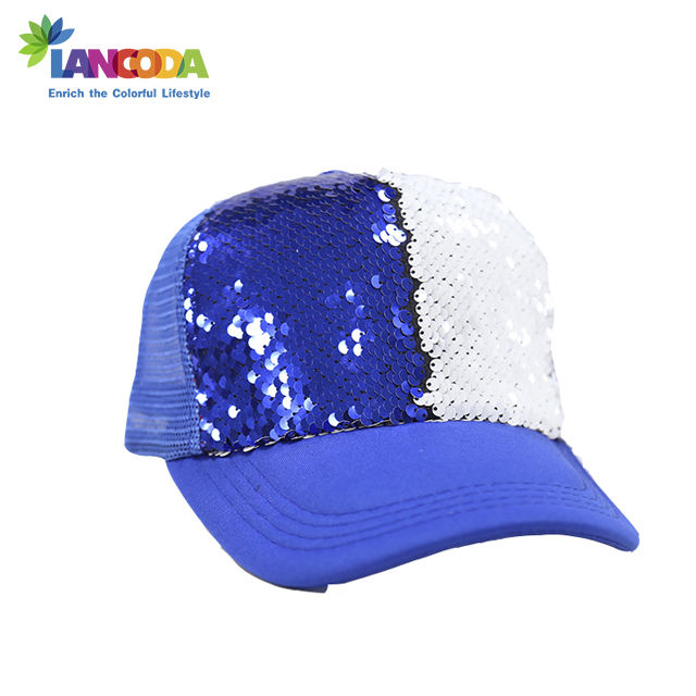Sublimatie Omkeerbaar Magic Sequin Verstelbare <span class=keywords><strong>Baseball</strong></span> Cap
