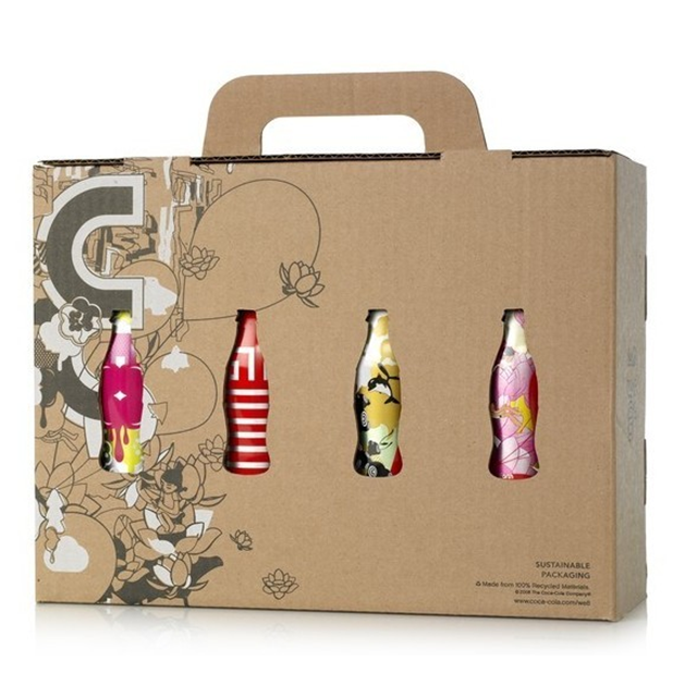 Customized Corrugated Carton Box for drink package with hanger