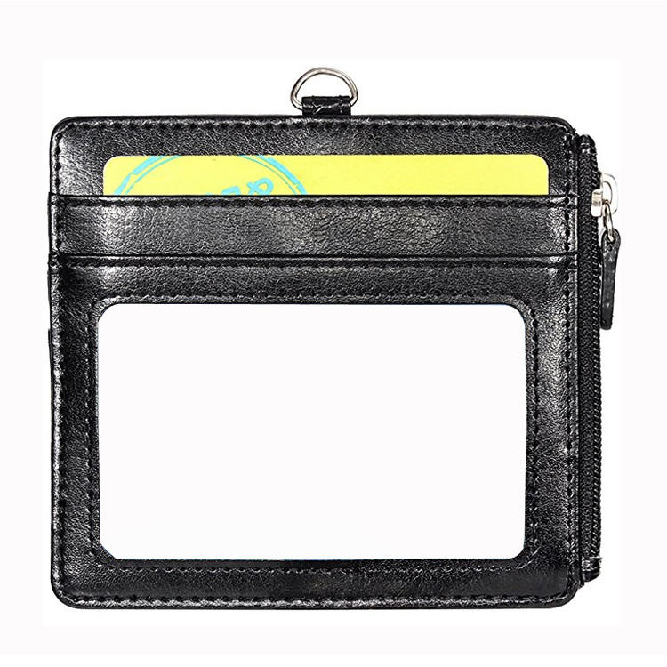Wallet Men Leather Badge ID Card Holder