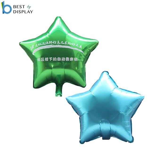 Custom made shape reusable balloons 라 (mylar) 스타 (energy star) 헬륨 balloons