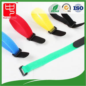 Tight Nylon hook and loop strap cable tie manufacturer with buckle