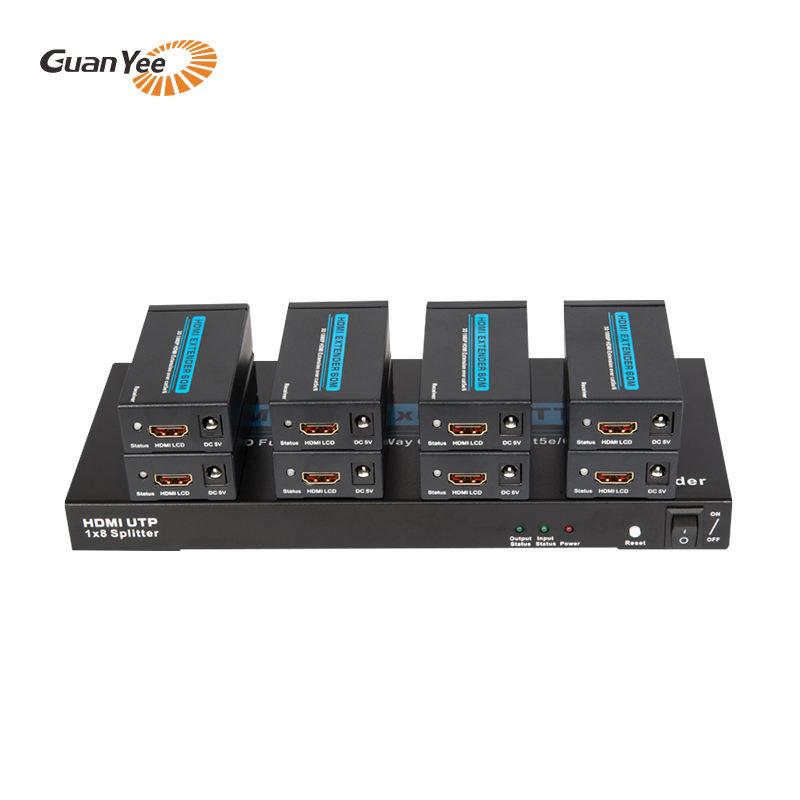 Audio Video Switcher 8way über Single Cat5e/<span class=keywords><strong>6</strong></span> <span class=keywords><strong>HDMI</strong></span> Splitter1x8
