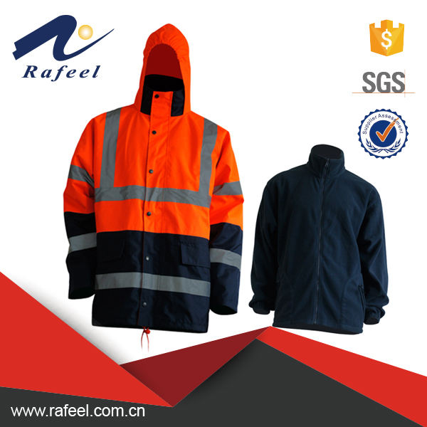 Hi vis 3 in 1 safety jacket men's workwear