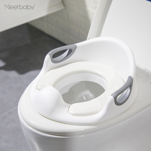 TPS010 Plastic High Quality Baby Potty Chair With Handle Kids Travel Potty Toilet Seat Cover With Soft Cushion Backrest