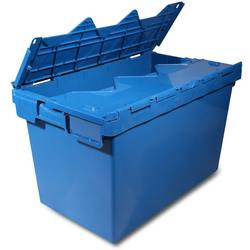 Plastic nesting containers blue storage crate