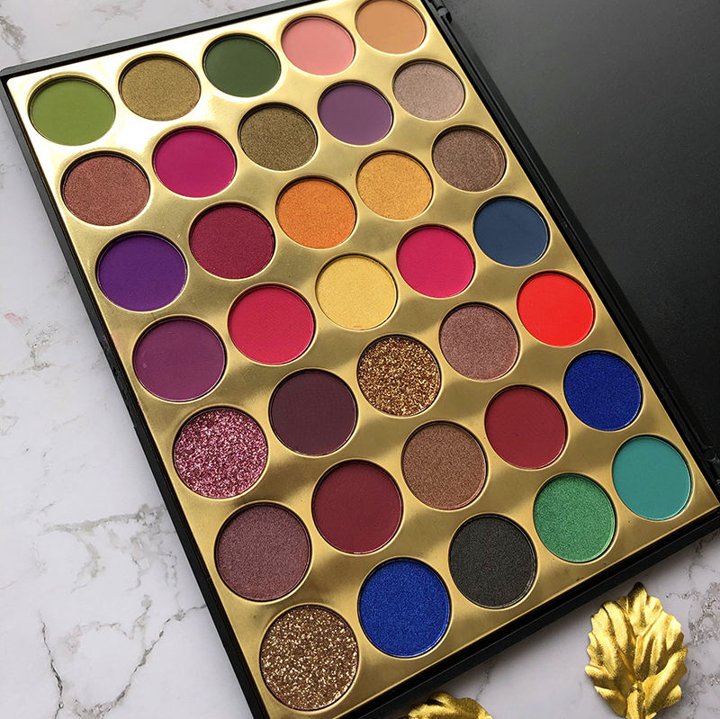 Custom eyeshadow palette high pigmented vegan 35 Color cosmetics makeup eyeshadow Palette no logo