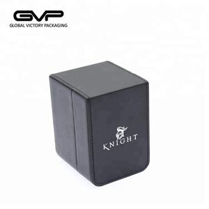 Pure hand make high end Customized logo Black leather gift watch package box
