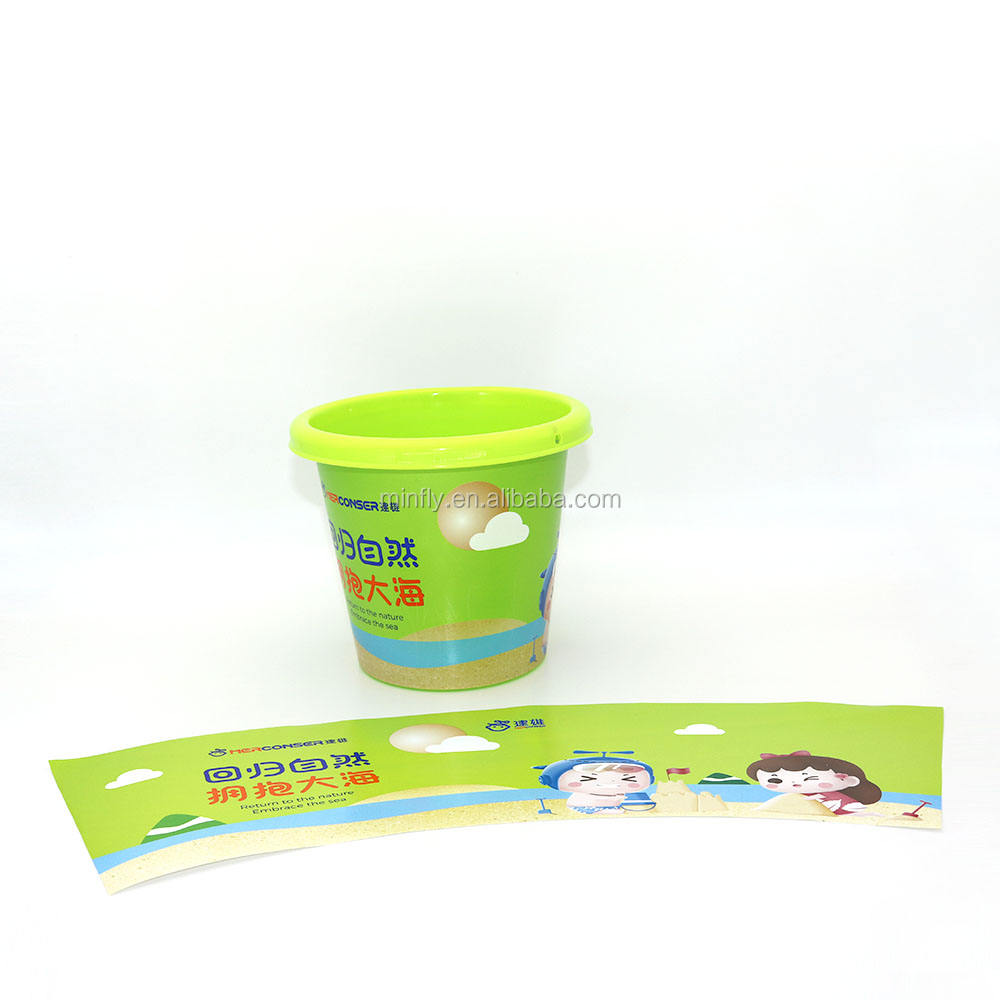 BOPP In mould label for toy, plastic injection label