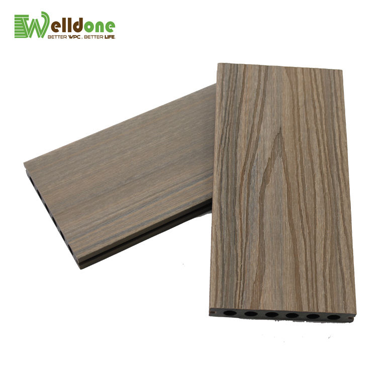 Top Sale WPC capped co-extrusion Wood Plastic Composite Decking Durable board for outside floor use