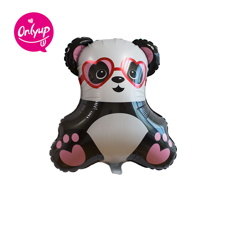 Cartoon balloons gift toys / kids toy lovely panda cute inflating foil party balloon for children' s day party decoration