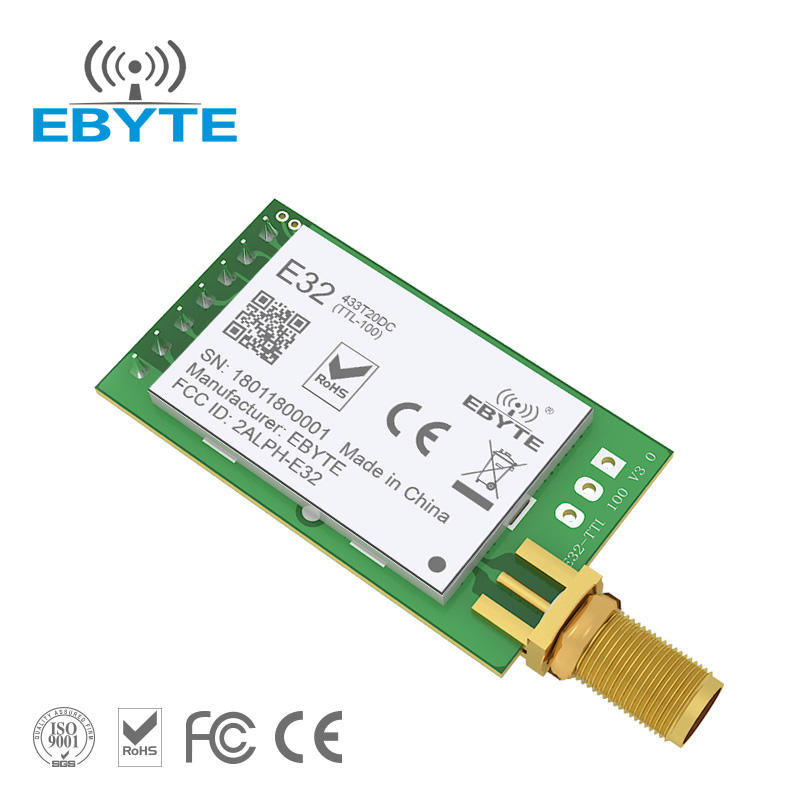 E32-433T20DC1B 3km long distance lora module rf SX1278 LoRa 433MHz rf wireless receiver module