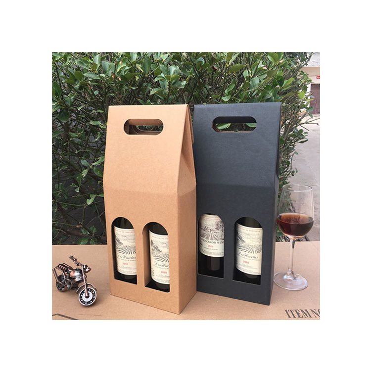Recyclable Cardboard Christmas Beer Glass Set Accessories Carriers Wine Gift Box