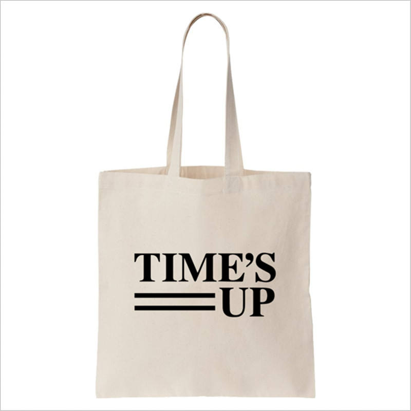 custom printing promotion standard size canvas shopper bag