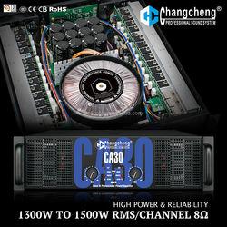 Lingte/Changcheng CA30/CA40 Series high power stable 2ohm soundstandard Class H 3U DJ/KTVprofessional audio amplifier