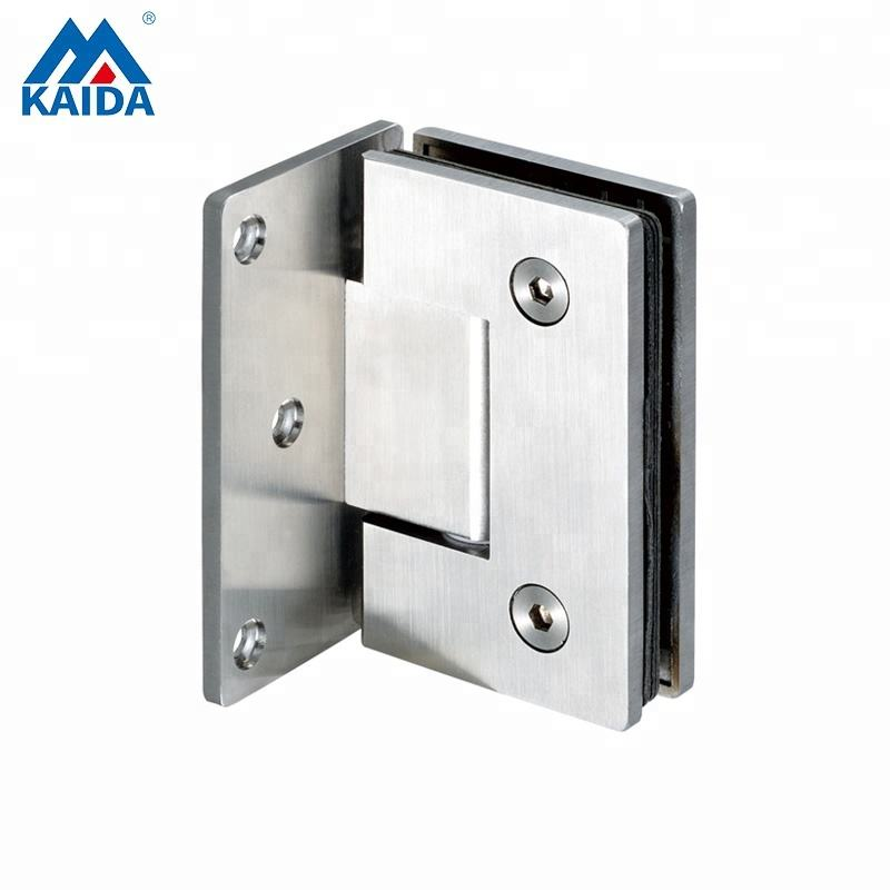 stainless steel glass shower door pivot hinge for bathroom fixed to one wall side