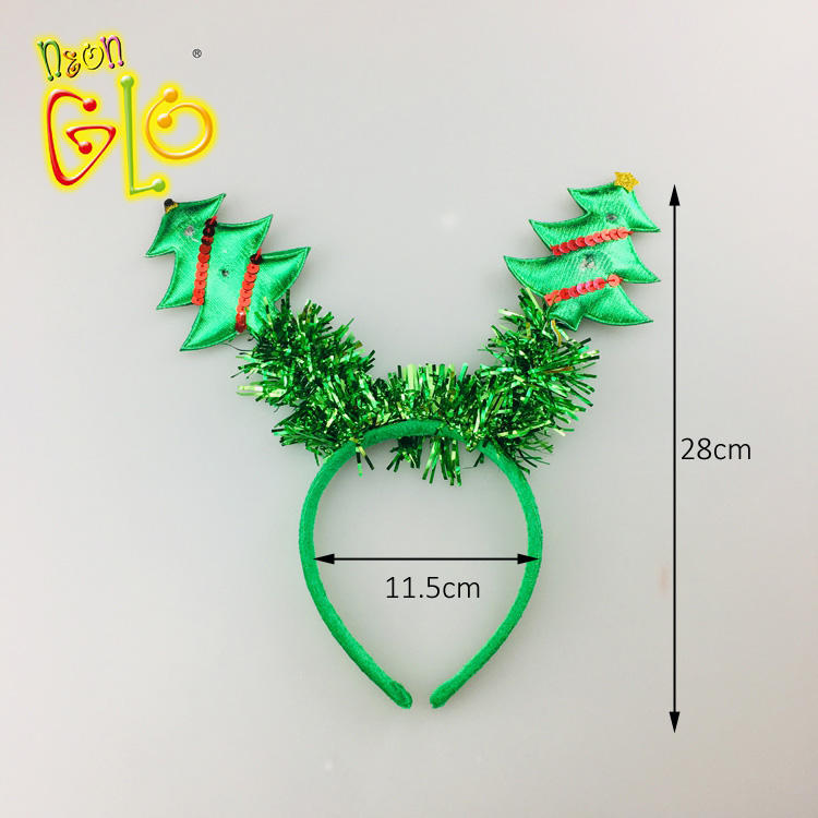 Event Party Supplies [ Tree Decorations ] Party Light Headbands Light Up Christmas Tree Headband For Party Decorations