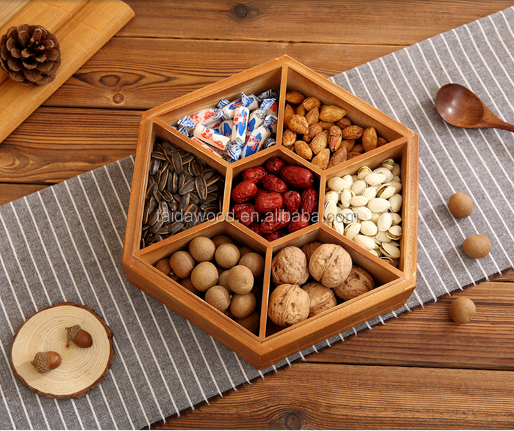 customized design simple wooden dry fruit box for sale/Pine solid wood table dry fruit storage box