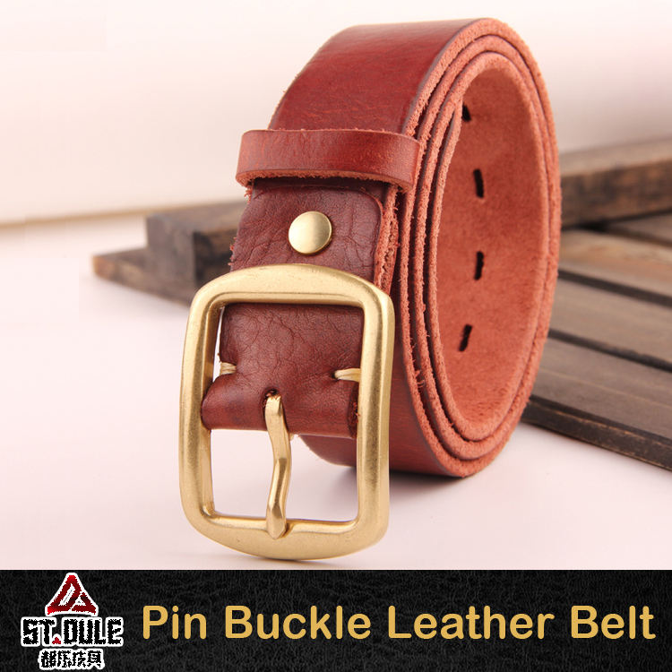 Fashionable item red leather belt parts