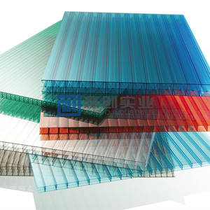 Durable Plastic Material 16mm Polycarbonate Roofing PC Hollow Sheet With UV Coated