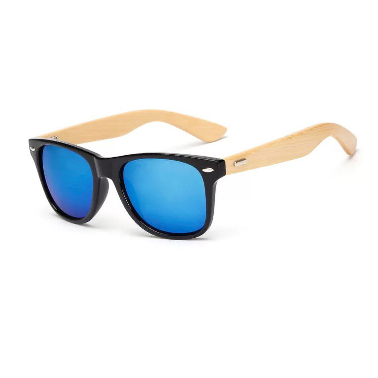 New cheap stock pc plastic bamboo women fashion sunglasses wood glasses frame