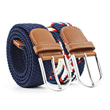 The Most Popular High Quality Casual Braided Elastic Canvas Mens Belts With Buckles