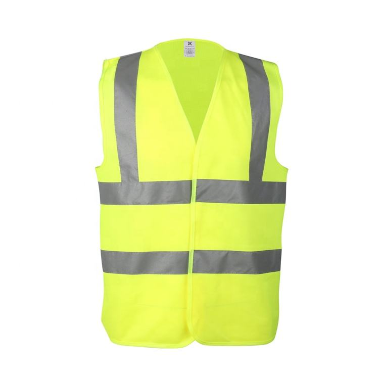 Hot Sale Yellow High Visibility Safety Vests Custom LOGO Printing with Reflective Strips EN471 Safety Vest