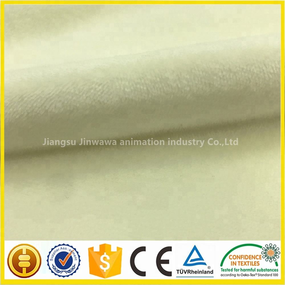 100% Polyester Solid Super Soft Velboa / Velour fabric for Lady Garment / Baby Blanket / Home Textile