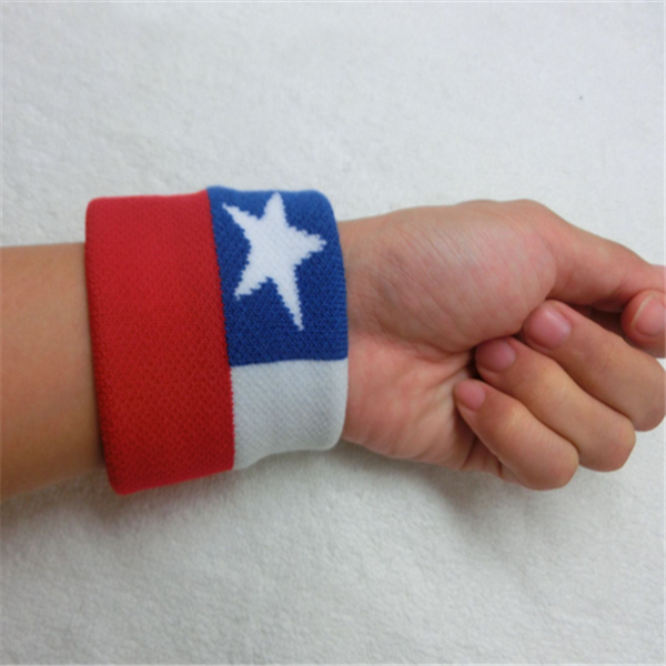 WRISTBAND Chile Flag SWEATBAND 7x8cm