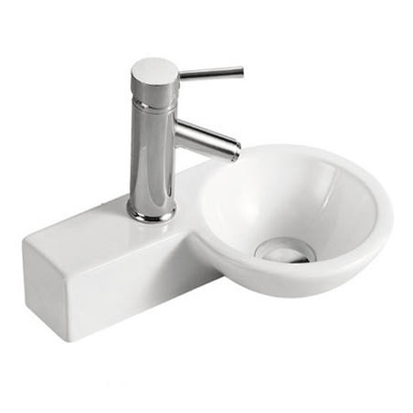 HY-3065R Ceramic wall mounted hand wash basin for bathroom design lavatory sink