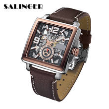 Top Notch Elegant Italian Leather Brown Lover Mechanical Watch Quartz Wrist Watches For Shopping Center
