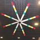 220V AC DC Motor Commercial Big HVLS Cooling Ceiling Fan With Color