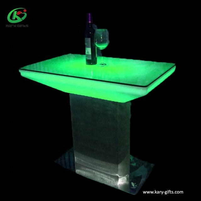 Good Coffee Shop Illuminated Furniture Interactive Standing Led Bar Table