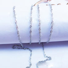 The wave stainless steel necklace stainless steel chain necklace