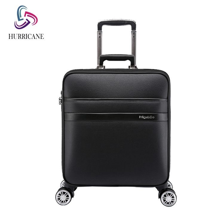 Oxford Trolley Wheeled Cabin Crocodile Luggage Bag Genuine Leather Fabric Soft Suitcase