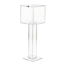 Clear acrylic Floor Free Standing Pedestal Ballot Box Wholesale