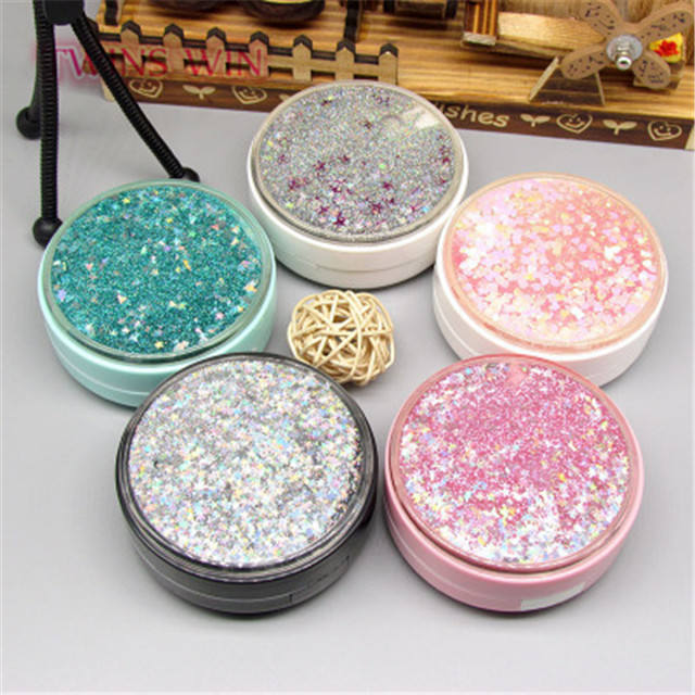 2019 young lady nice design glitter Contact lens box 371