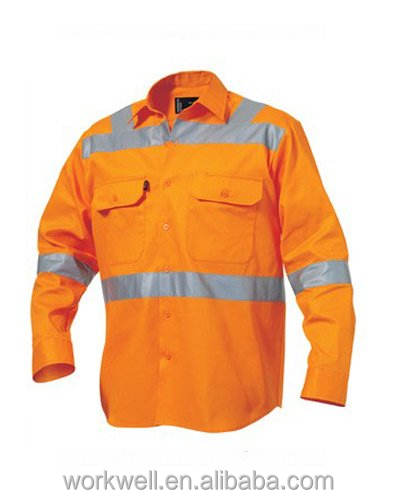 Long Sleeve Safety Drill Shirt