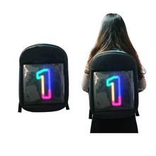turn signal led backpack advertising with led lights human digital billboard