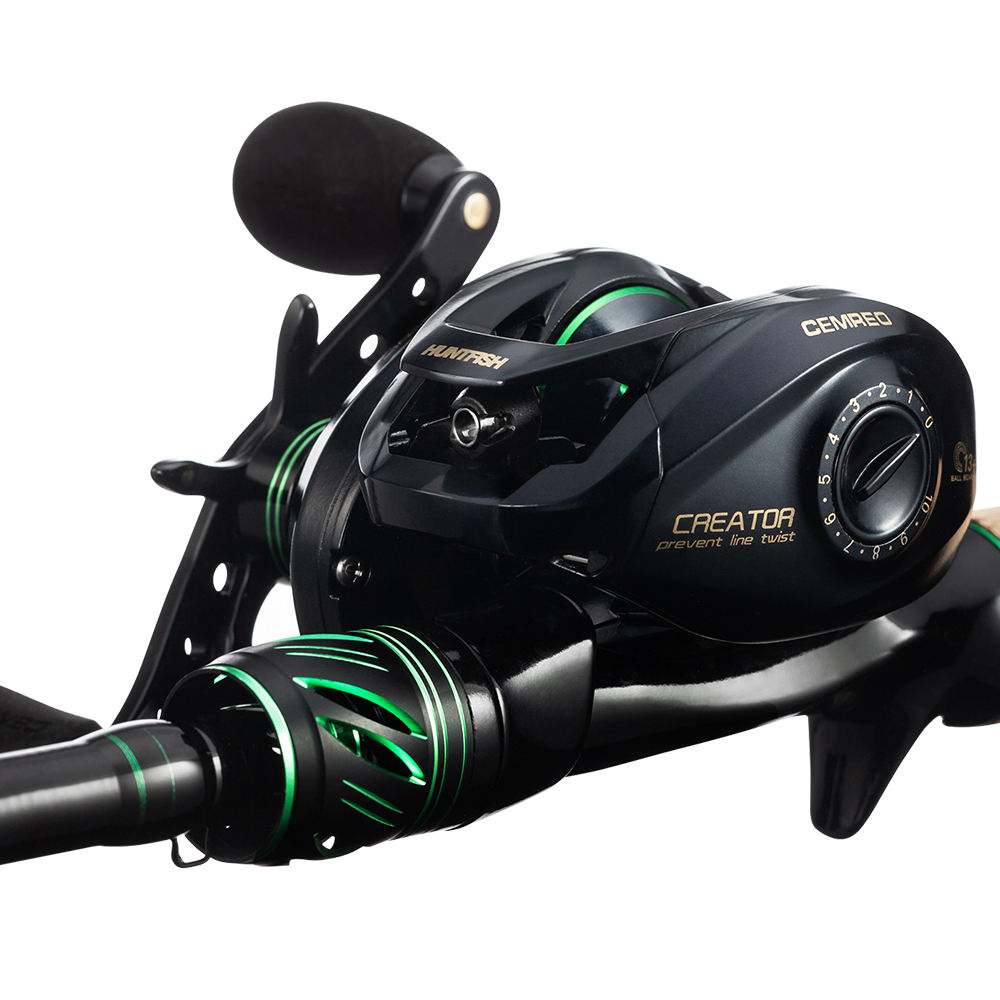 CEMREO Magnetic Brake Saltwater 8kg 9+1BB 7.2:1 Fishing Baitcasting Reel