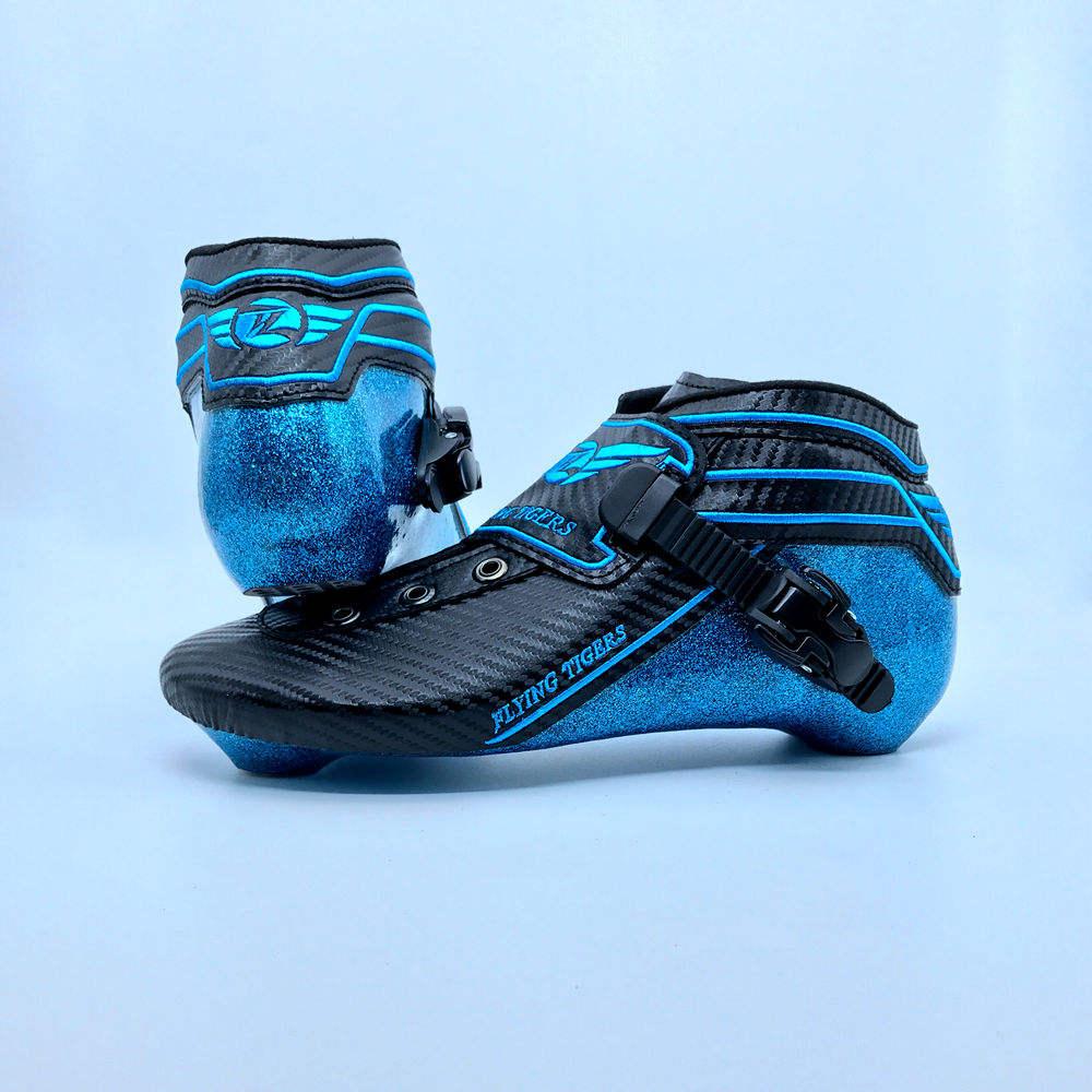 Chất Lượng tốt Chuyên Nghiệp Sky Blue Carbon Fiber Roller Inline Tốc Độ <span class=keywords><strong>Skate</strong></span> Boot