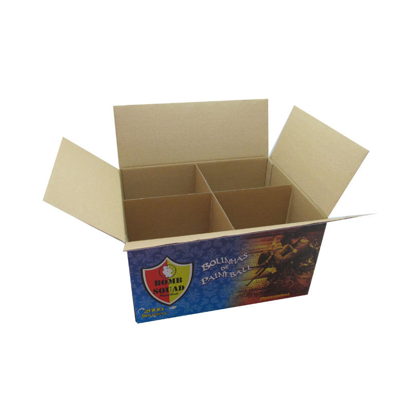 Custom printed paper carton box for packing four paintballs