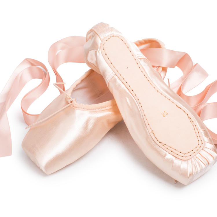 7000054 High Quality Factory Sansha Style Satin Professional ballet pointe shoes With Inner Cushion