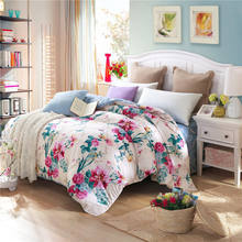 Tidebuy Soft Wholesale 100% Cotton Printed Twill Sand Lovely Pattern Quilt Duvet Set , Bed Cover Sheet Set
