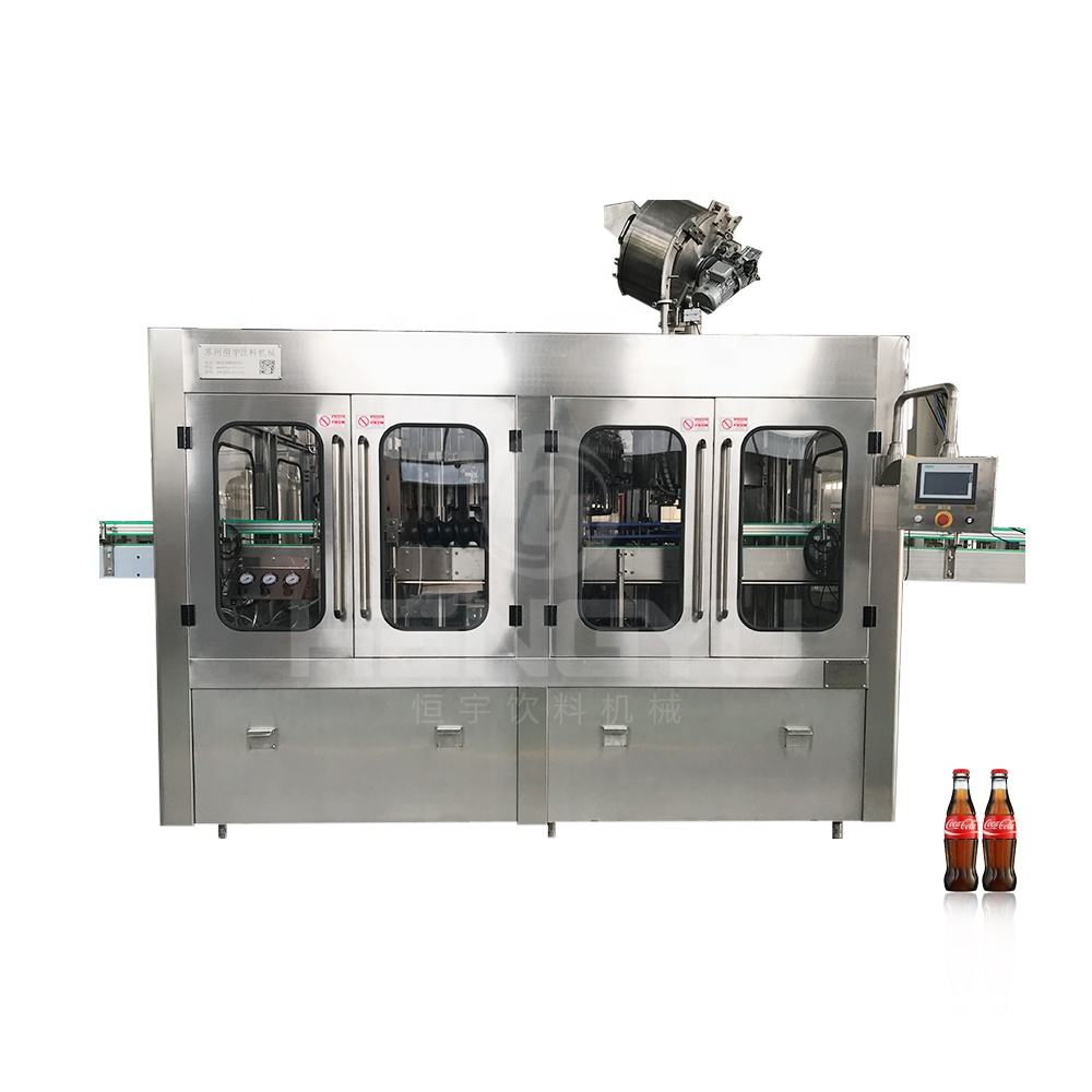 Glass bottle carbonated drink filling machine with co2 soda water bottling latest unit sparkling carbon activated club making