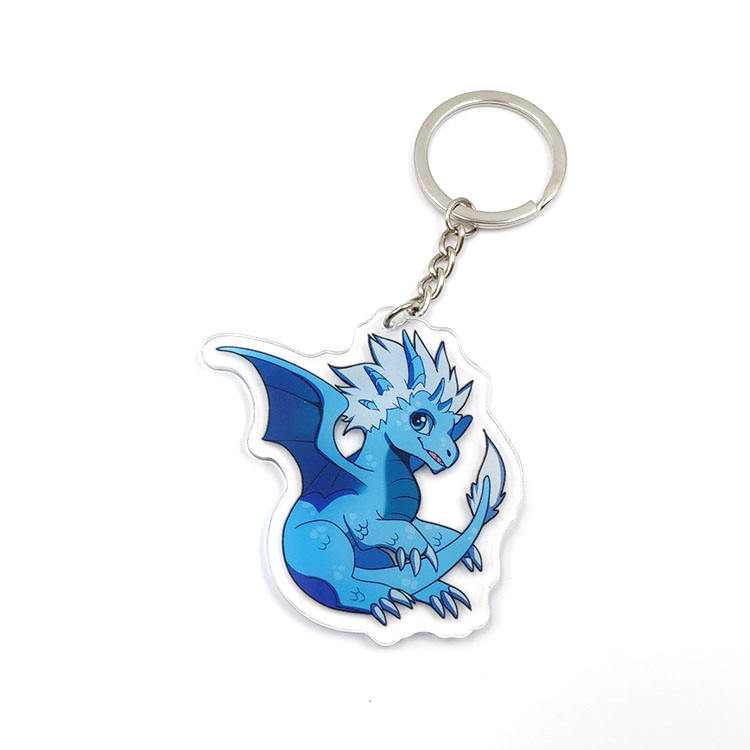Wholesale Custom Laser Cut Acrylic Cartoon Character Keychains For Promotional Gift