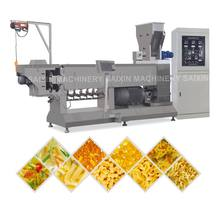 china jinan Twin screw extruder for snack pellet food fried pani puri papad food snack pellet making machine
